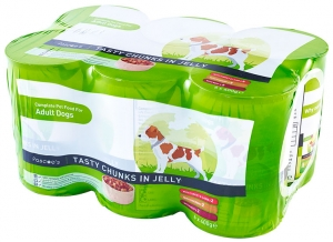 Adult Dog 6 pack chunks in jelly