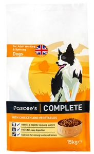 Pascoe's dry food with chicken for working dogs