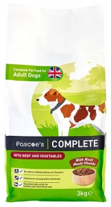 Pascoe's dry food with beef for dogs