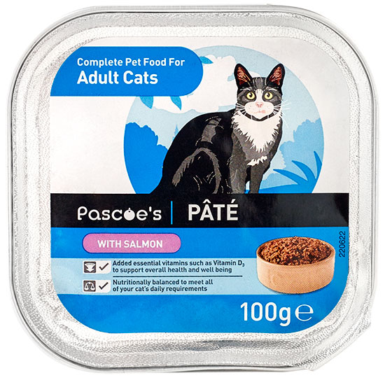 Adult cat pâté with salmon