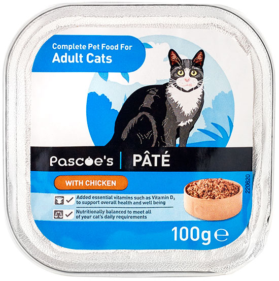 Adult cat pâté with chicken